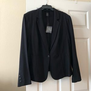 Plus Size Ponte Knit Black Blazer